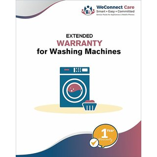 WeConnect Care 1 Year Extended Warranty for Washing Machines (Value upto Rs.10000)