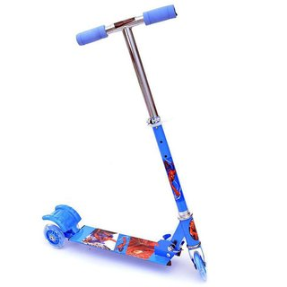 Kids Foldable 3 Wheel Scooter Tricycle for Indoor  Outdoor Fun (Blue) Latest