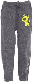 Haoser Yellow Print Cotton Dark Grey Track pant ,Lower For Kids