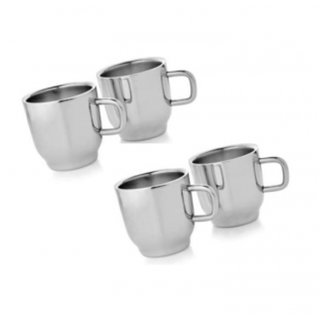 UMANG Set of 4 Double Wall Classic Cups