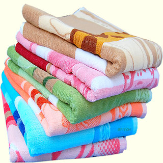 Premium furnishing 400 GSM large size cotton designer bath towel pack of one. (LXW) (60X30 inches).