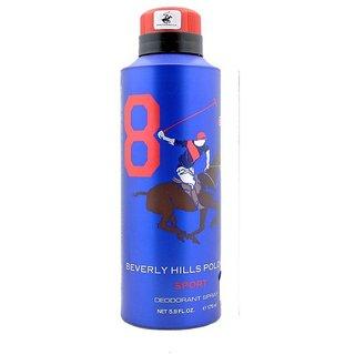 Beverly Hills Polo Club Sport No 8 Deodorant for Men 175ml