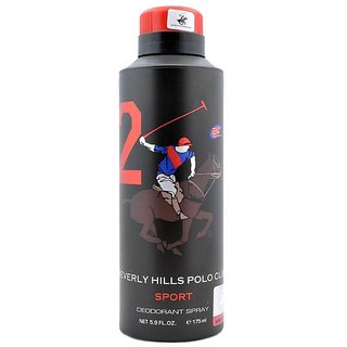 Beverly Hills Polo Club Sport No 2 Deodorant for Men 175ml