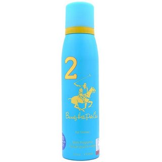 Beverly Hills Polo Club Sport No 2 Perfume Body Spray for Women Combo pack of 2 150ml each 300ml