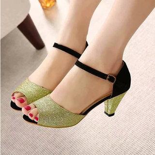 IndiForce Women Gold Sandal Heels