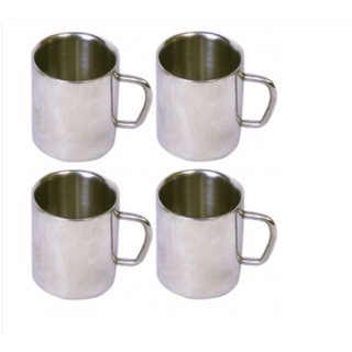 UMANG Set of 4 Double Wall Small Sober Cups