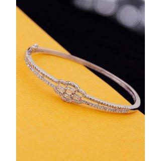 Voylla White Gems Studded Bracelet