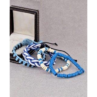 Dare by Voylla Stylish 4 Bracelets Adorning Beads and Leather