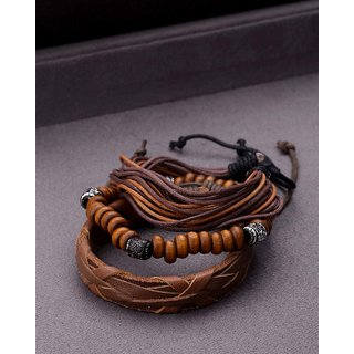 Dare by Voylla Set of 3 Rugged Wrap Bracelet from Cool Stacked