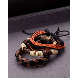 Dare by Voylla Smart Multi-Strap Leather Beads Wrap Bracelet from Cool Stacked