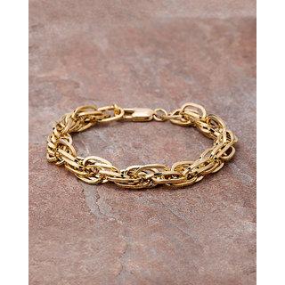Dare by Voylla Gold Plated Link Bracelet For Men