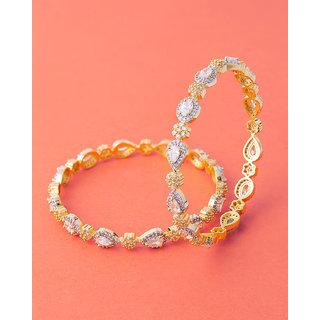 Voylla Oval Cut Gemstones Adorned Bangles