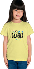 Haoser Girls Yellow Cotton Blue,Black Printed Comfort Regular Fit t-Shirt