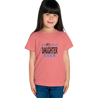 Haoser Kids Orange Cotton Blue Black Print On Front Stylish Comfort T-Shirt