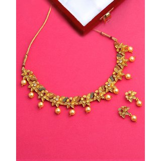 Voylla Ethnic Zinc Alloy Necklace Set