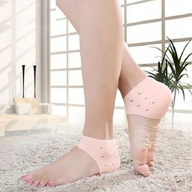 kudos 1 Pair Silicone Heel Protector Toe Socks Heel Crack Heel Chapped Sets Men and Women (pack of 1)