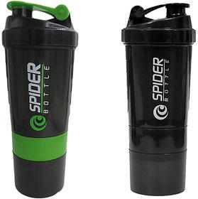 Spider Combo of Shaker 500 ML 500 ml Shaker  (Green,Black)