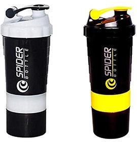 Spider Combo of Shaker 500 ML 500 ml Shaker  (White,Yellow)