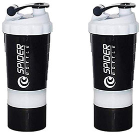 Spider Combo of  Shaker 500 ML 500 ml Shaker  (Pack of 2, White)