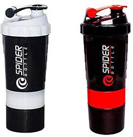 Spider Combo of Shaker 500 ML 500 ml Shaker  (White,Red)