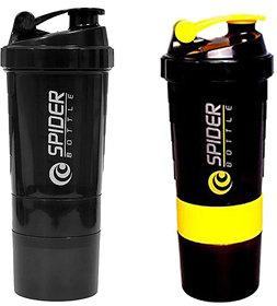 Spider Combo of Shaker 500 ML 500 ml Shaker  (Yellow,Black)