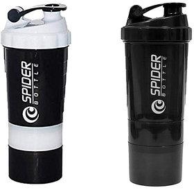 Spider Combo of Shaker 500 ML 500 ml Shaker  (White,Black)