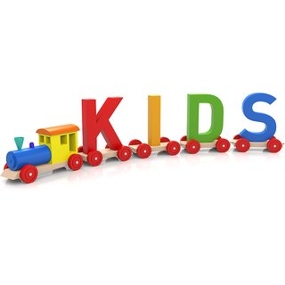kids train Alphabets and numbers wall sticker paper poster  Sticker Paper Poster, 12x18 Inch