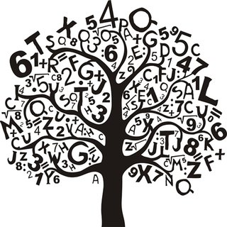 study tree Alphabets and numbers wall sticker paper poster |Sticker Paper Poster, 12x18 Inch