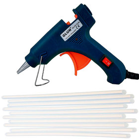 Bandook  20 watt hot melt black glue gun with 10 transparent glue sticks