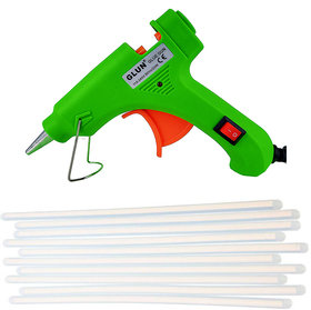 Glun 20 Watt Hot melt  Green Glue Gun with 10 transparent glue sticks