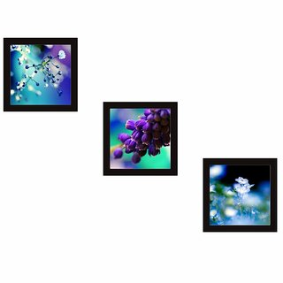 KARTIK Framed Wall Painting Set of 3 / Break Resistant Clear/Home Decor for Living Room, Office, Bedroom(23X23) cm