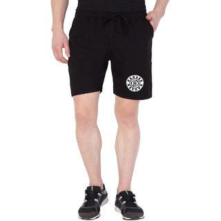 Haoser Men's Black Slim Fit Cotton Short