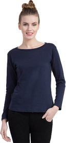 Cliths Women's Cotton Slim Fit Full Sleeve Round Neck Tshirt For Daily Wear