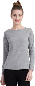 Cliths Women's Cotton Slim Fit Full Sleeve Round Neck Sport Tshirt for Daily Wear