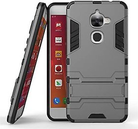 Kickstand Back Cover for LeEco Le 2 (Grey, Shock Proof)