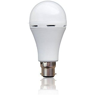 VIZIO 9W Emergency Light Ac Dc Rechargeable Inverter LED Bulb Automatic White - Pack of 1