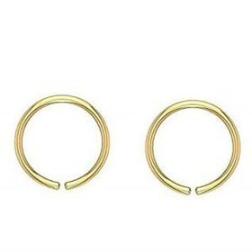 Nose Ring 18K Gold Plated(Bali) for Girl  Women, GOLD-NOSE-PIN