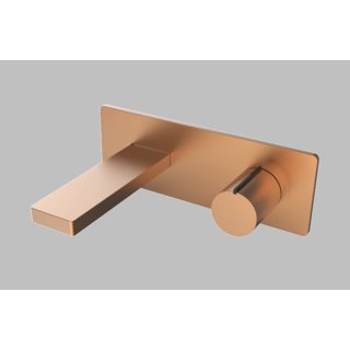 Olive Gold - Wall Mounted Concealed Basin Mixer with Spout By Colston