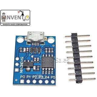 Invento Micro USB ATTINY85 Microcontroller Development Board Compatible for Arduino
