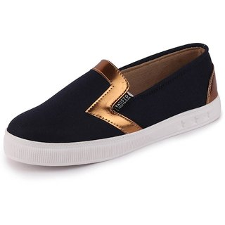 Fausto Women's Canvas Slip On Loafers
