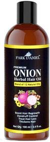 Park Daniel ONION Herbal Hair oil - For Hair Regrowth and Anti Hair Fall(100 ml)