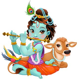 cute krishna god Spiritual & Religious, Traditional and Worship Hindu god Poster