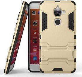 Kickstand Back Cover for LeEco Le 2 (Gold , Shock Proof)