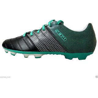 SEGA Classic Leather Football Shoes Black/Green