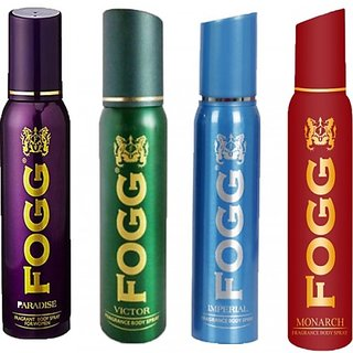 Fogg Deo Spray for men - Combo of 4 Body Spray (No Gas)