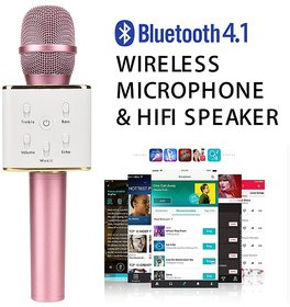 Japang Karoke Q7 Bluetooth Wireless Microphone With Inbuilt Mic For iOS  Android Mobile