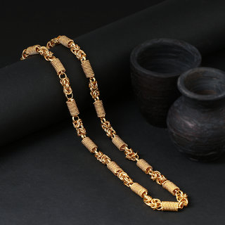 Sukkhi Sparkling Gold Plated Unisex Rope Chain