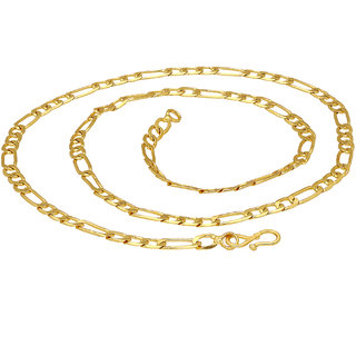 Sukkhi Fashion Gold Plated Unisex Figaro chain