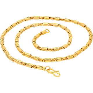 Sukkhi Fashionable Gold Plated Unisex Ball Bar chain
