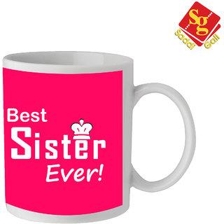 Saddi Gali Raksha Bandhan Gift, Rakhi Gift, Gifts for Sister, Best Sister Gift, White Coffee mug 79(350 ml) ceramic mug